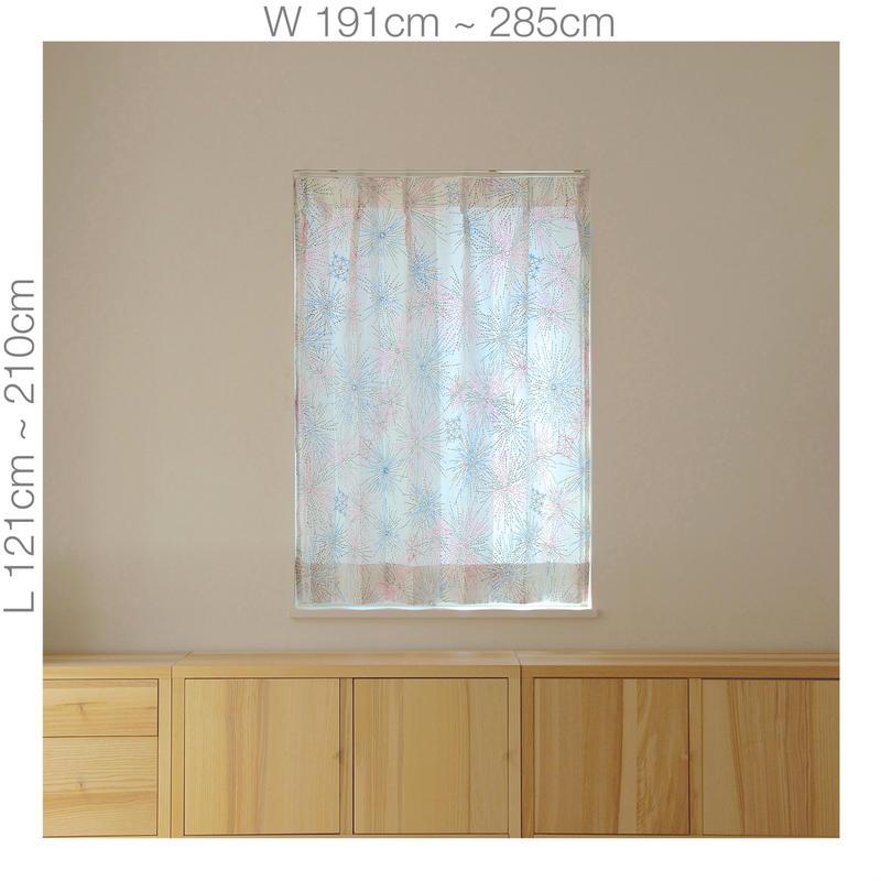 """【ORDER CURTAINS】オーダーカーテン:""""花火""""ピンク 巾 191cm~285cm ・ 丈 121cm~210cm(2枚セット)"""