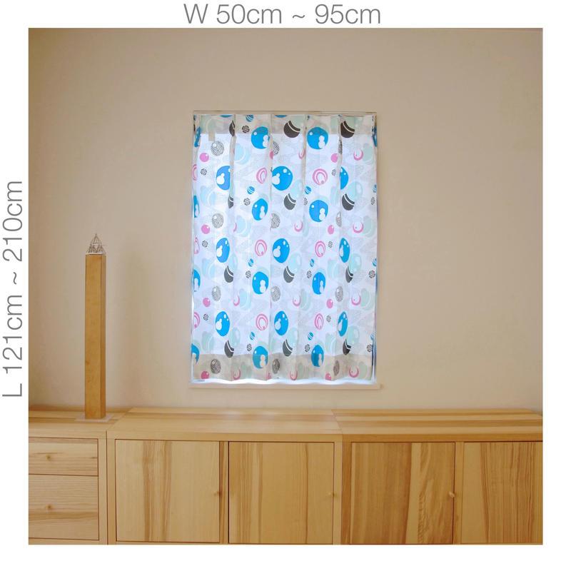 """【ORDER CURTAINS】オーダーカーテン:""""水玉""""ピンク 巾 50cm~ 95cm ・ 丈 121cm~210cm(1枚)"""
