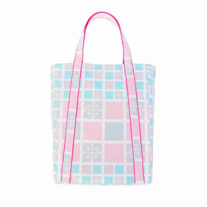 【BAG】トートバッグ:5柄(蛍光ピンク)