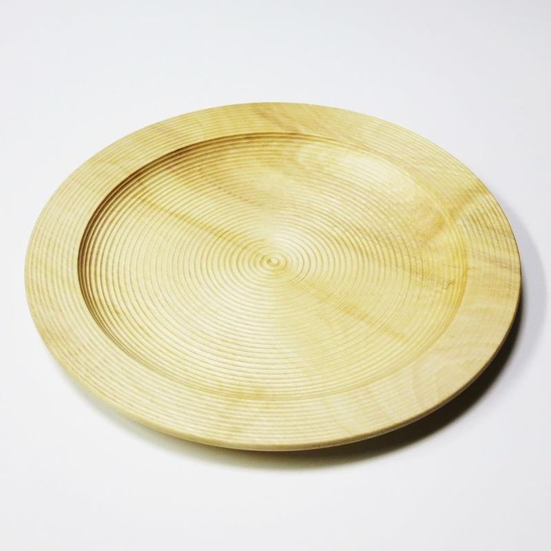 栃 8.0リム皿 荒筋 Plain