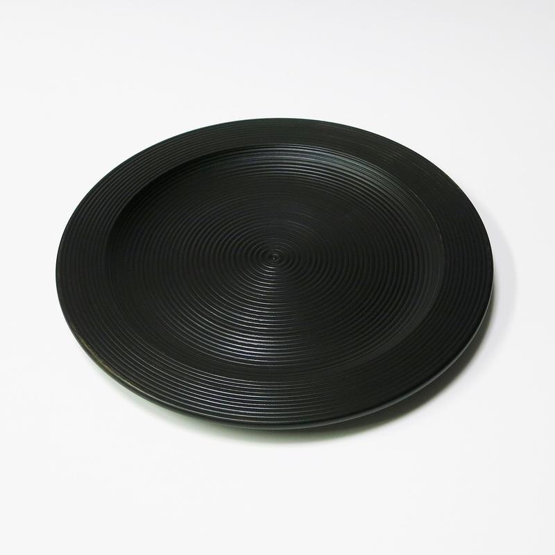 栃 8.0リム皿 荒筋 Black