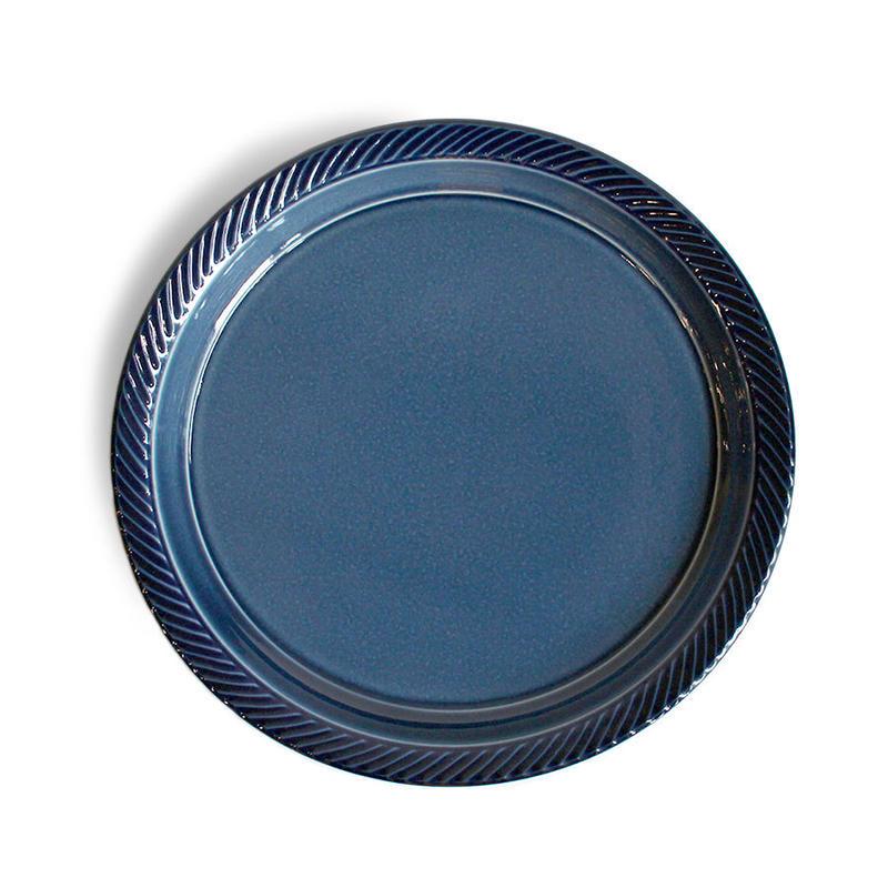 blur 20cm plate 藍