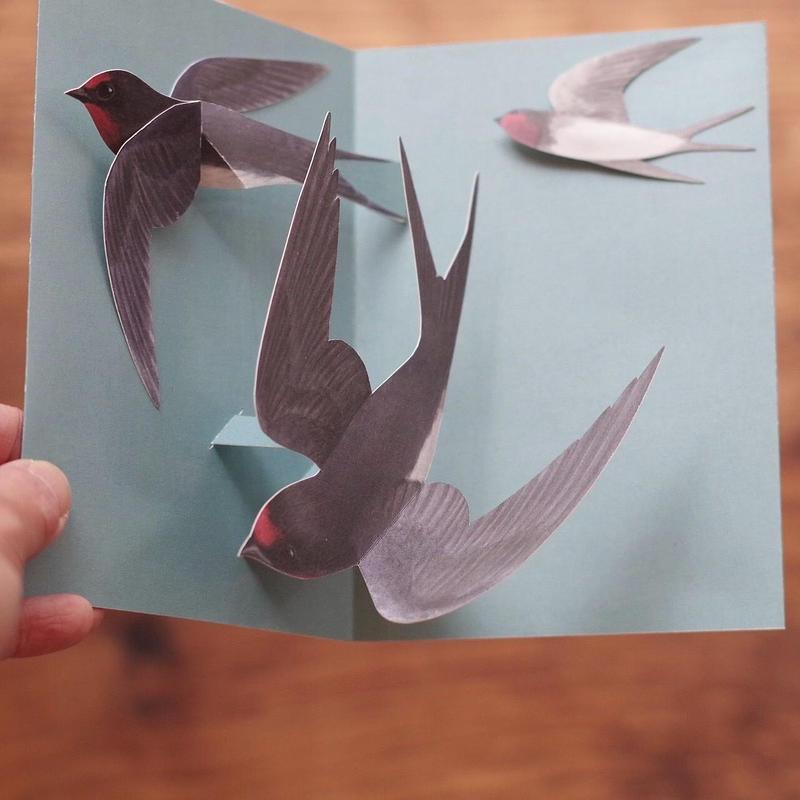 ユカワアツコ 新作 「つばめ飛ぶカード」