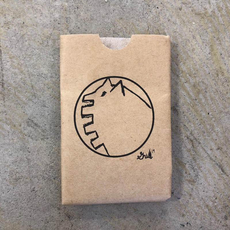 Grill skateboard paper koozie