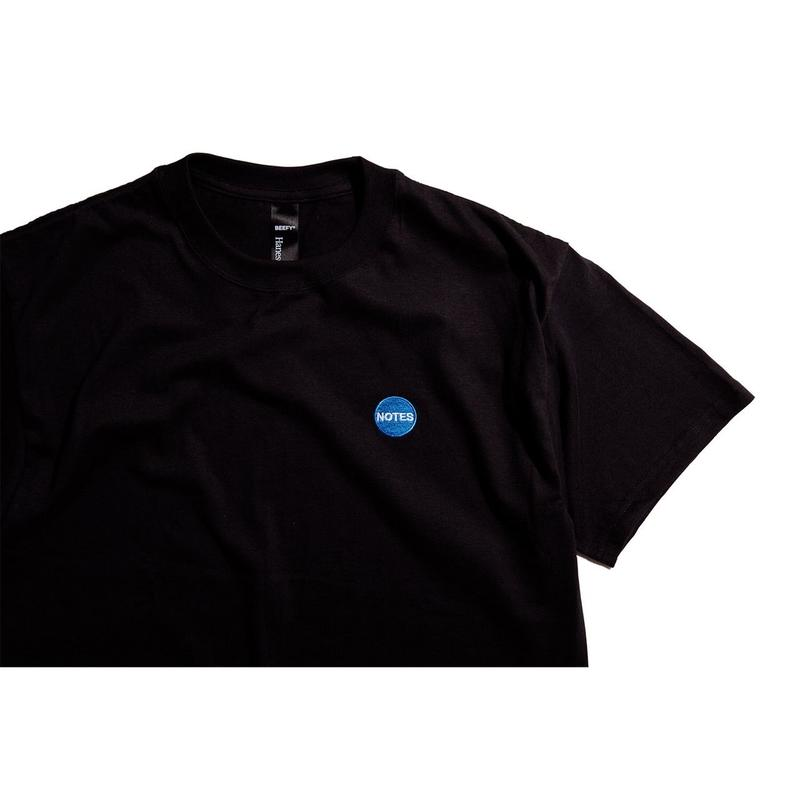 Notes magazine logo embroidery T (black