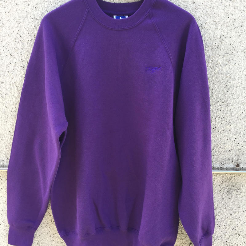 Embroidery crew neck (Purple)