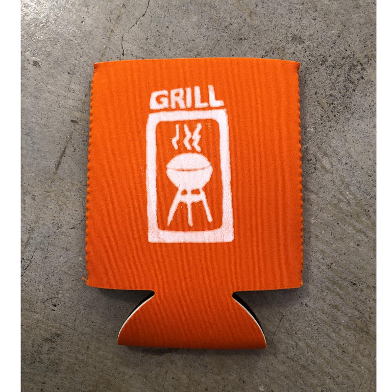 Grill skateboard Koozie (Orange