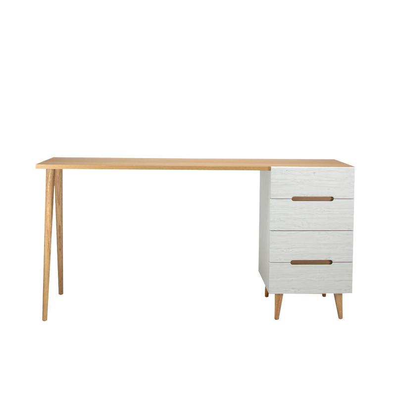 FLAMINGO DESK 1500 CHEST WHITE