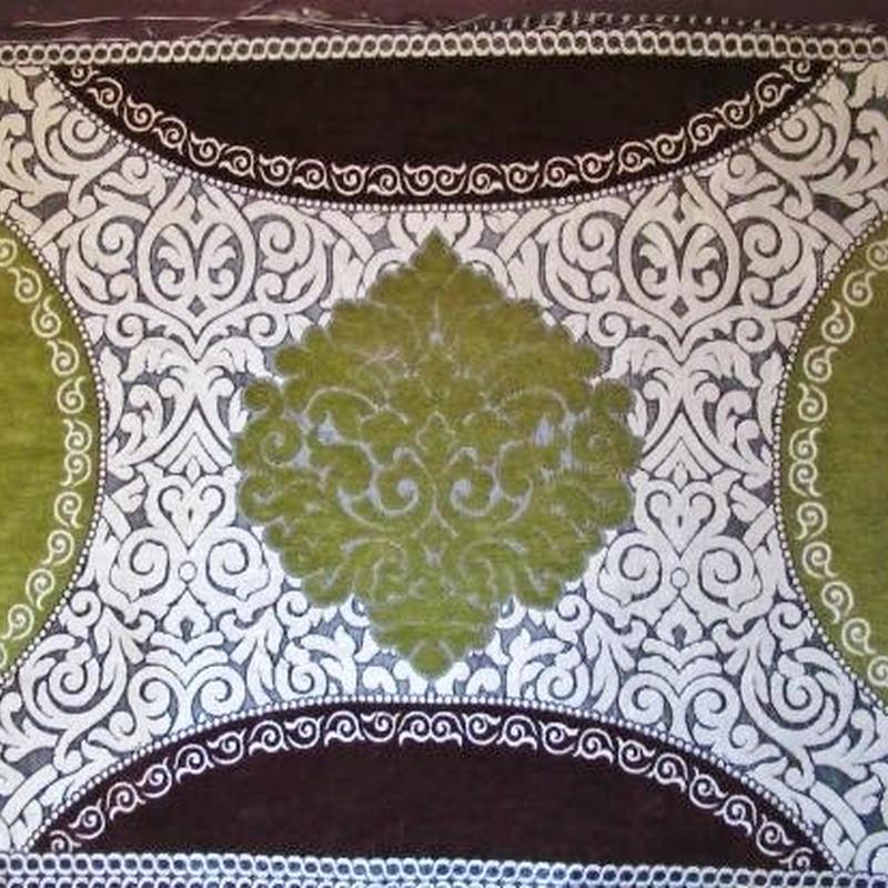 モロッコインテリア生地・パネルタイプ「グリーン&マロン」144×60cm