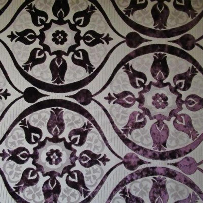 モロッコインテリア生地・リバーシブル「オリエンタルカーキ」164×63cm
