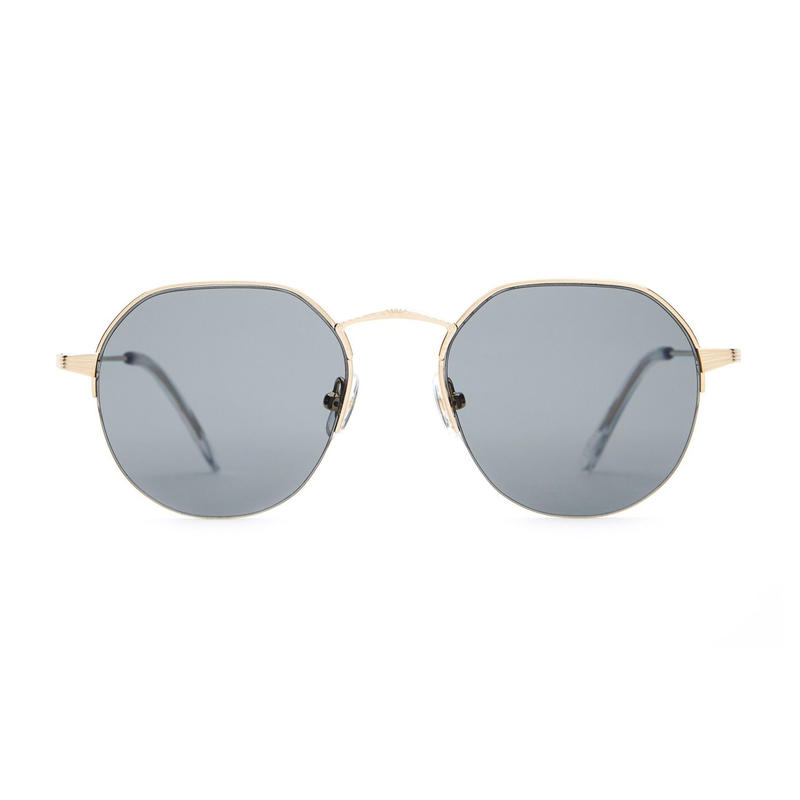 CRAP EYEWEAR THE JOY BRIGADE BRUSHED GOLD & CRYSTAL / POLARIZED GREY