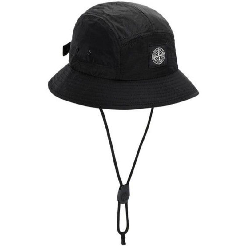 STONE ISLAND NYLON METAL RIPSTOP 5PANEL HAT BLACK