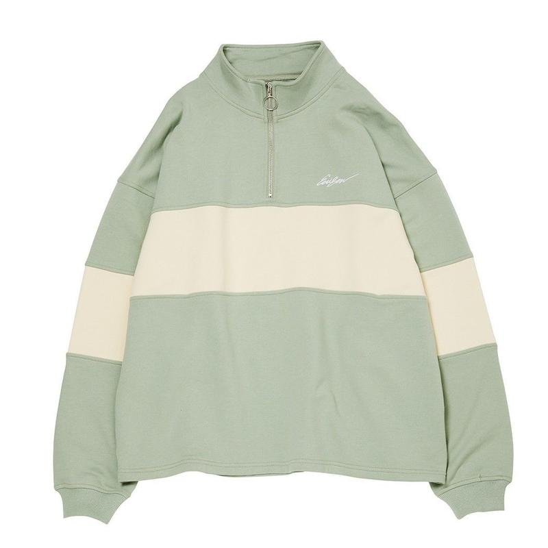 EVISEN SKATEBOARDS VEHICLE ZIP SWEAT SAGE