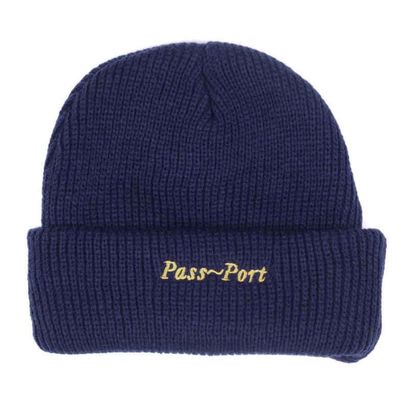 PASS~PORT SCRIPT BEANIE NAVY