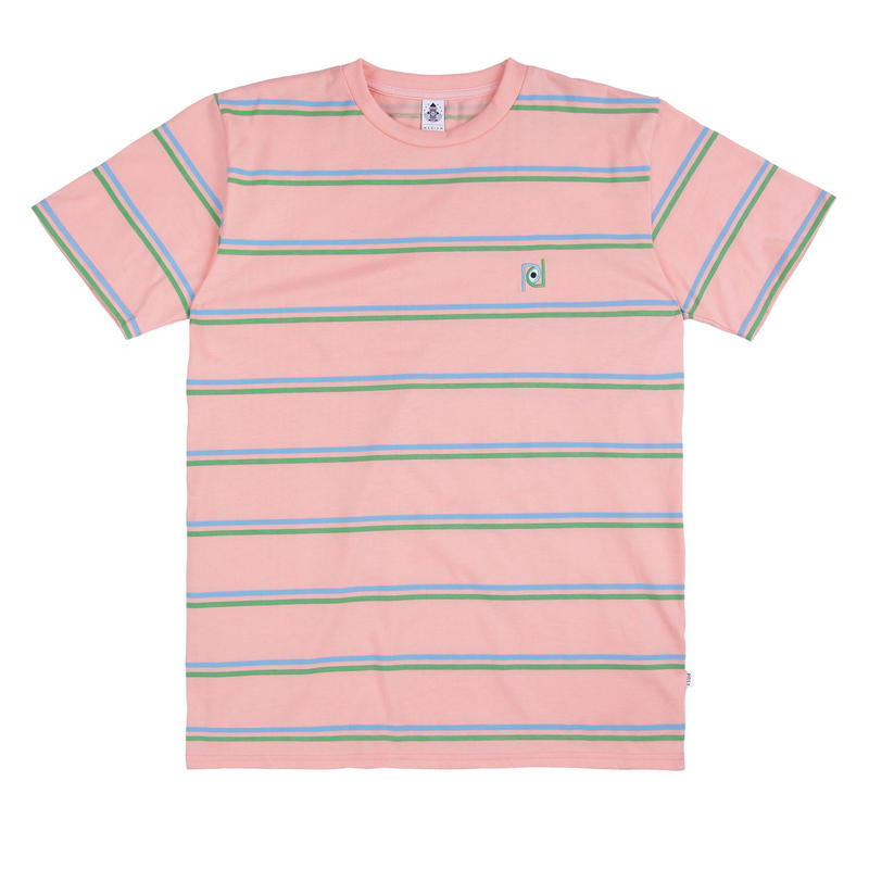POST DETAIL STRIPED TEE PEACH