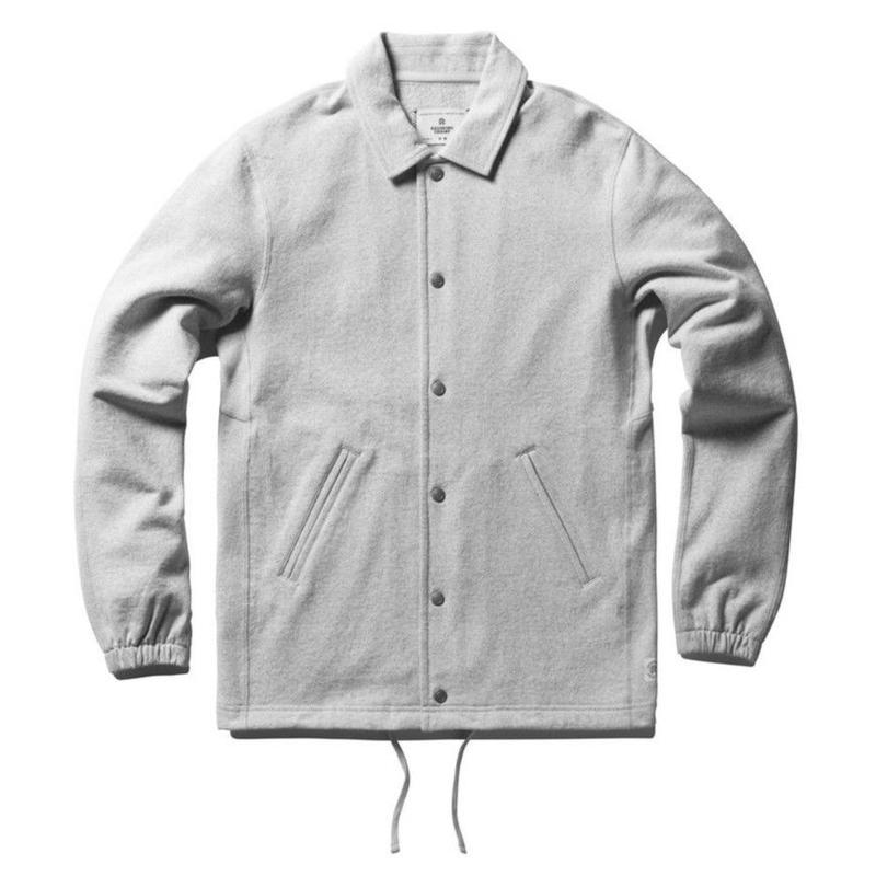 REIGNING CHAMP COACH'S JACKET HEATHER GREY