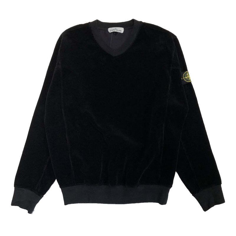 STONE ISLAND CORDUROY SWEAT SHIRT BLACK 65839