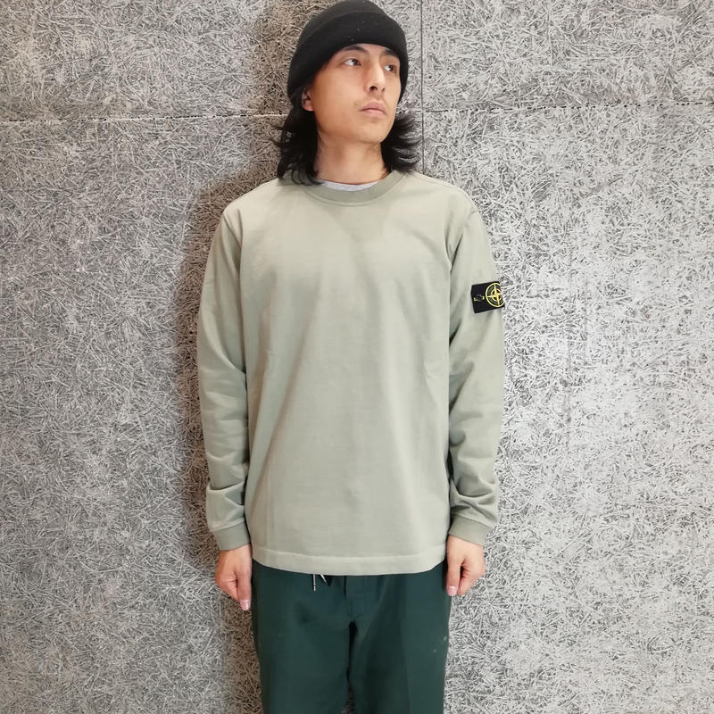 STONE ISLAND LIGHT WEIGHT SWEAT OLIVE 62150