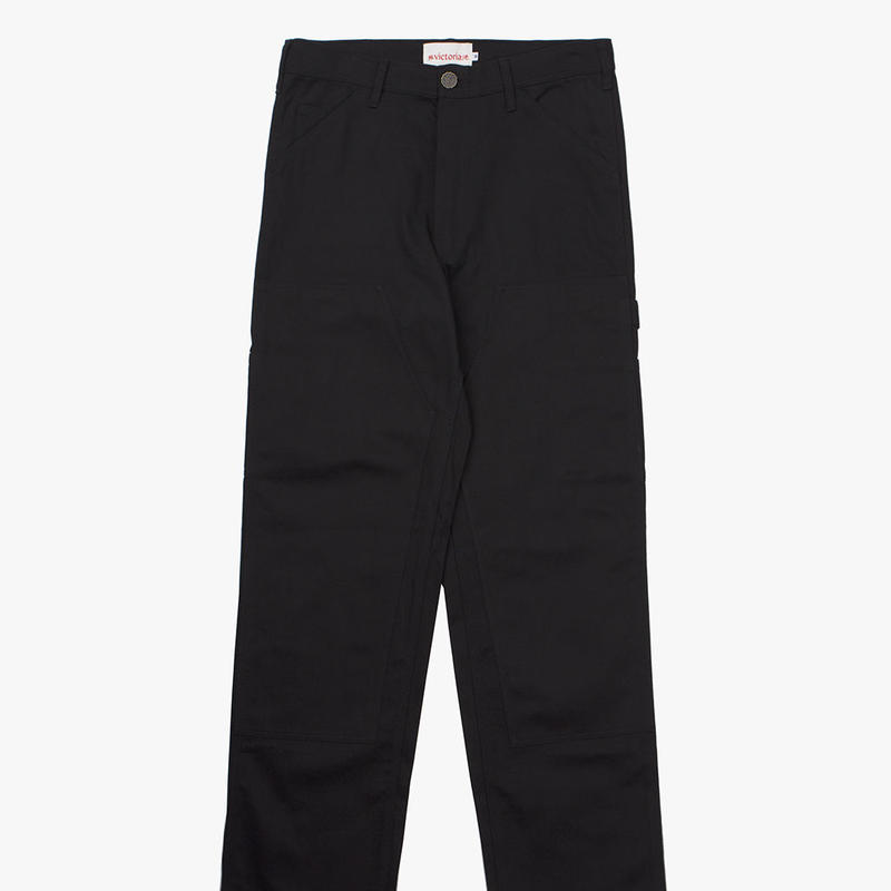 VICTORIA DOUBLE KNEE WORK PANTS BLACK