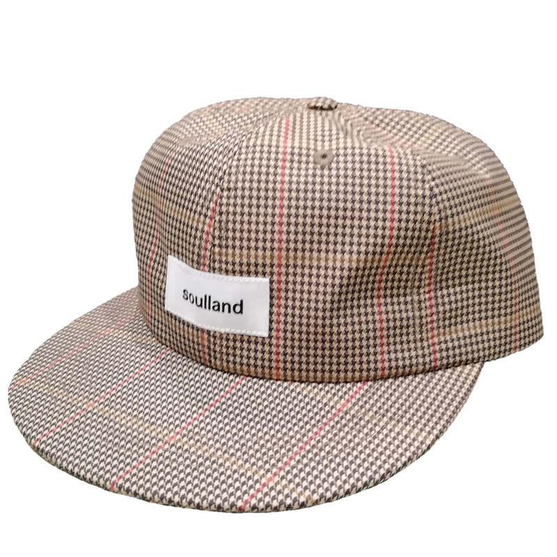 SOULLAND 6 PANEL CHECKED CAP