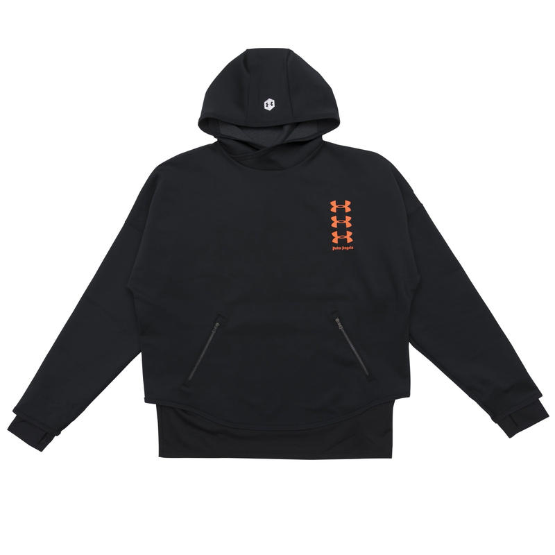 PALM  ANGELS  × UNDER ARMOUR LOOSE HOODY BLACK