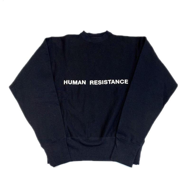 HUMAN RESISTANCE LOGO CREWNECK BLACK