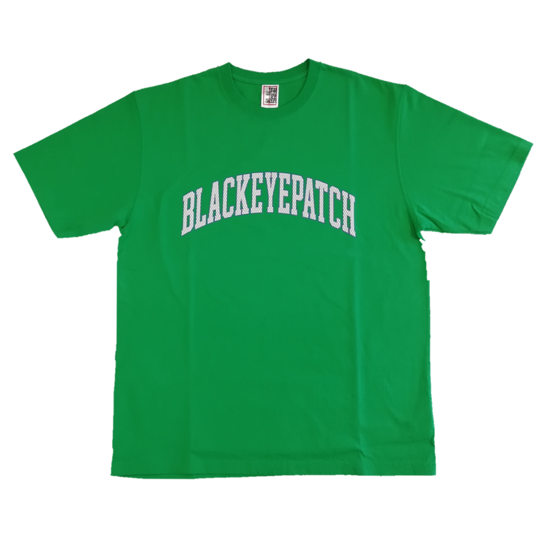 BLACK EYE PATCH COLLEGE   S/S TEE GREEN