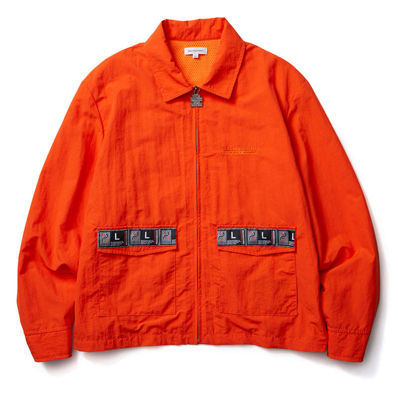 BLACK EYE PATCH TAPED BLOUSON ORANGE