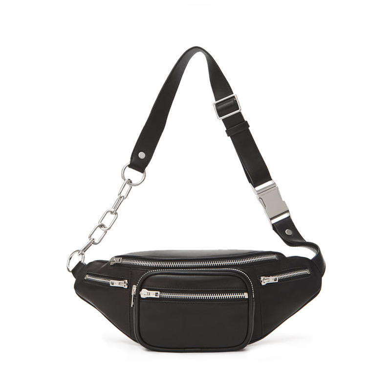 ALEXANDER WANG  ATTICA SOFT LAMB FANNY PACK  BLACK