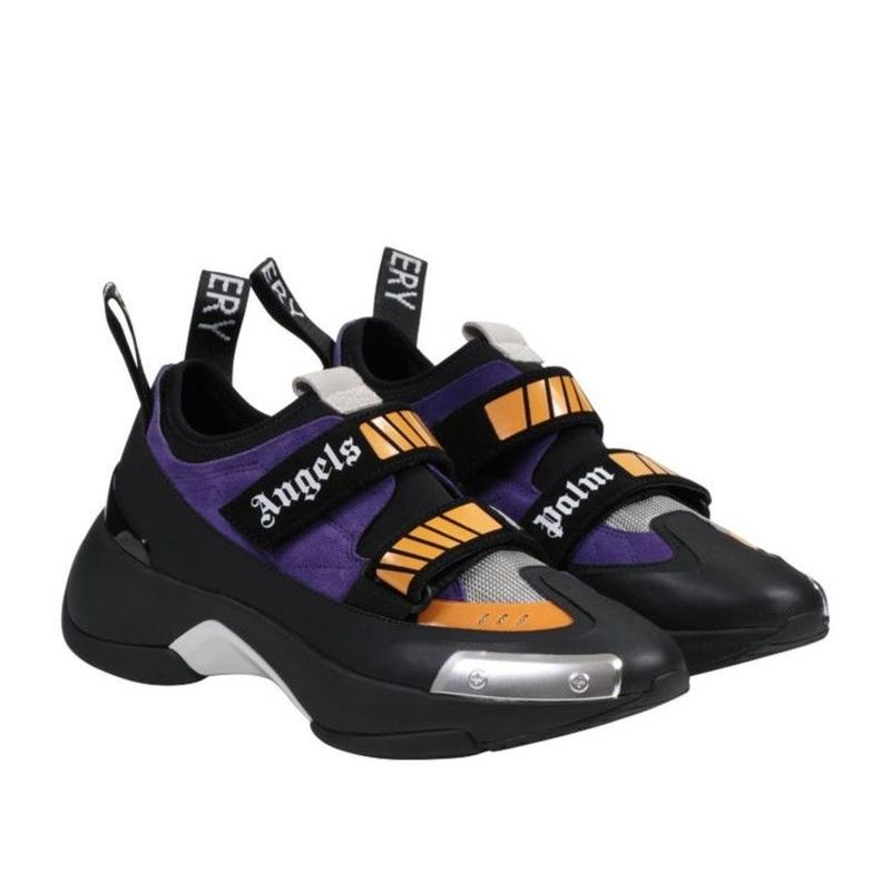 PALM  ANGELS   RECOVERY SNEAKER  BLACK PURPLE