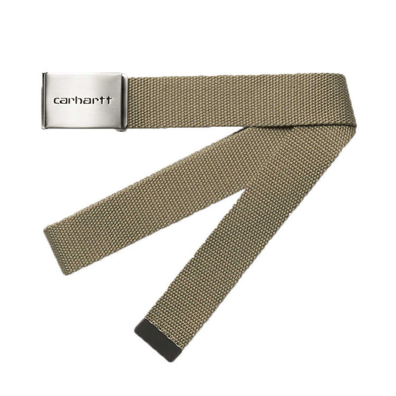 CARHARTT WIP CLIP BELT CHROME KHAKI