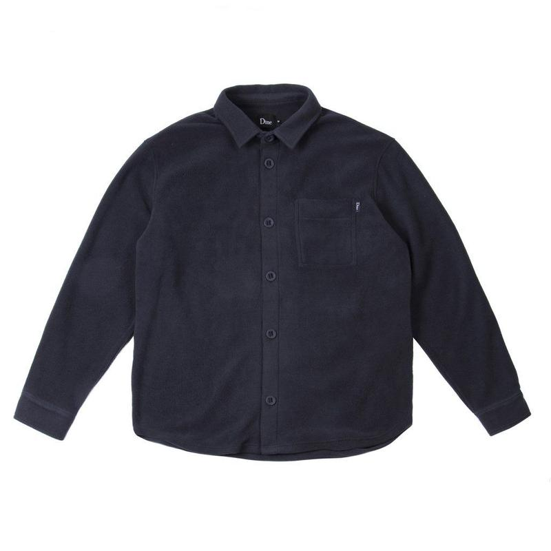 DIME FLEECE BUTTON-UP SHIRTS NAVY