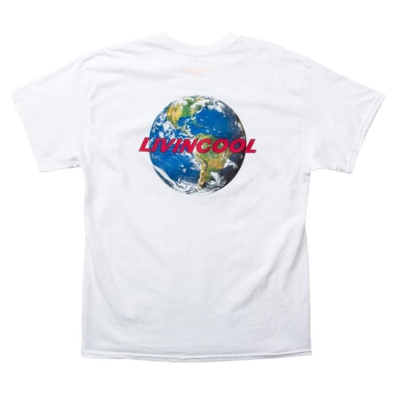 LIVINCOOL WORLD LOGO WHITE T-SHIRT