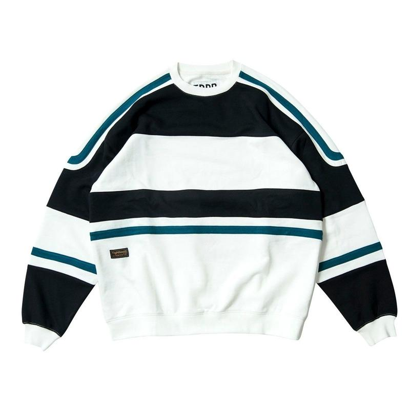 TIGHTBOOTH PRODUCTION STARTER CREW SWEAT BLACK/WHITE