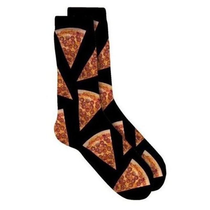SKATE MENTAL PIZZA SLICE SOCKS
