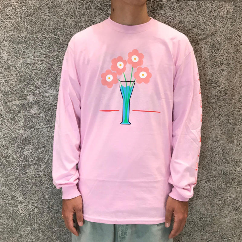 PARK DELICATESSEN FLOWER CARE LONG SLEEVE TEE SOFT PINK