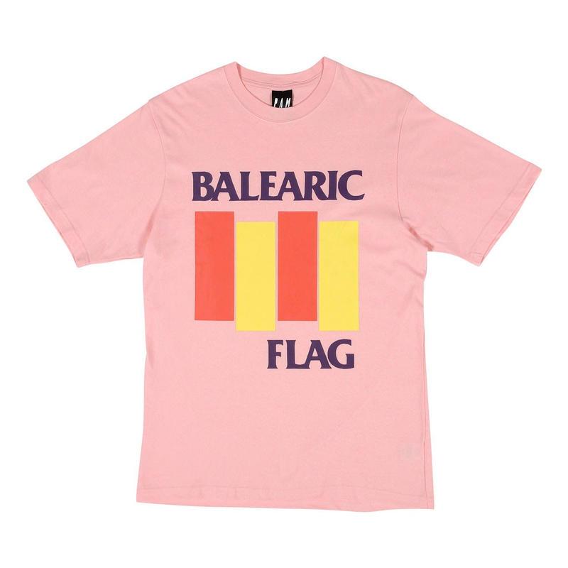 P.A.M BALEARIC FLAG T-SHIRTS PINK
