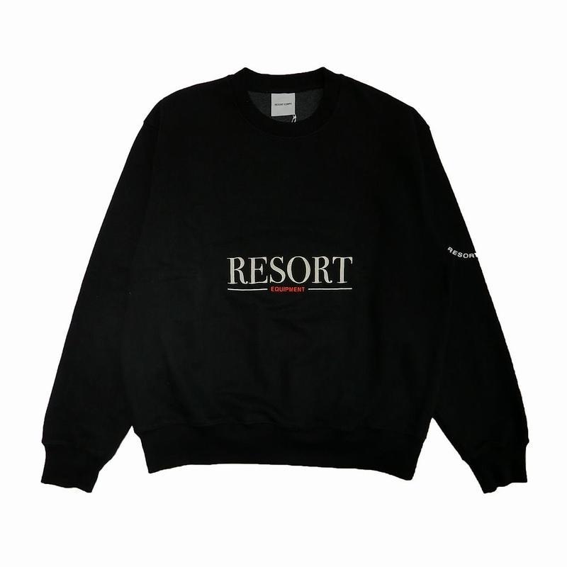 RESORT CORPS EQUIPMENT CREW NECK SWEATER BLACK