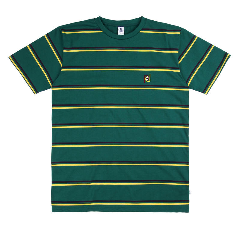 POST DETAIL STRIPED TEE GREEN