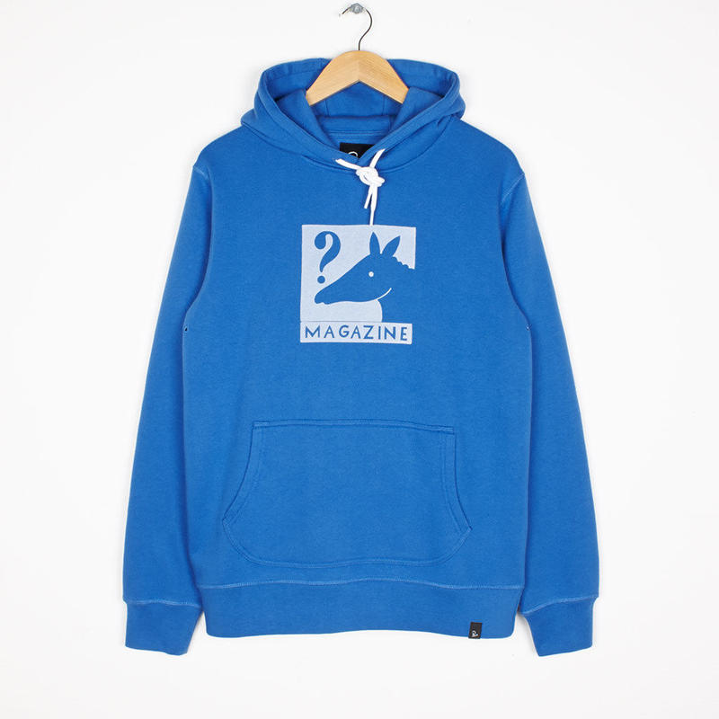 BY PARRA HORSE MAGAZINE HOODED SWEATER BLUE