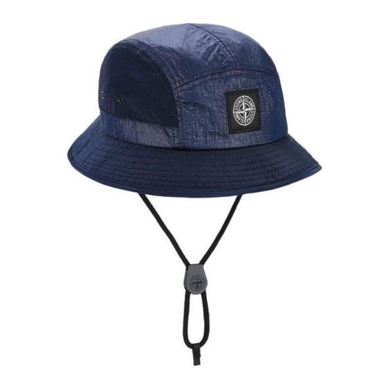 STONE ISLAND NYLON METAL RIPSTOP 5PANEL HAT MARINE BLUE