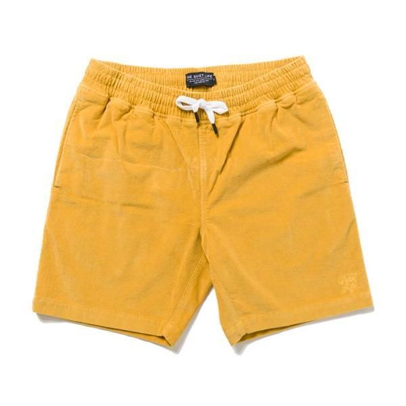 THE QUIET LIFE CODE BEACH SHORTS GOLD