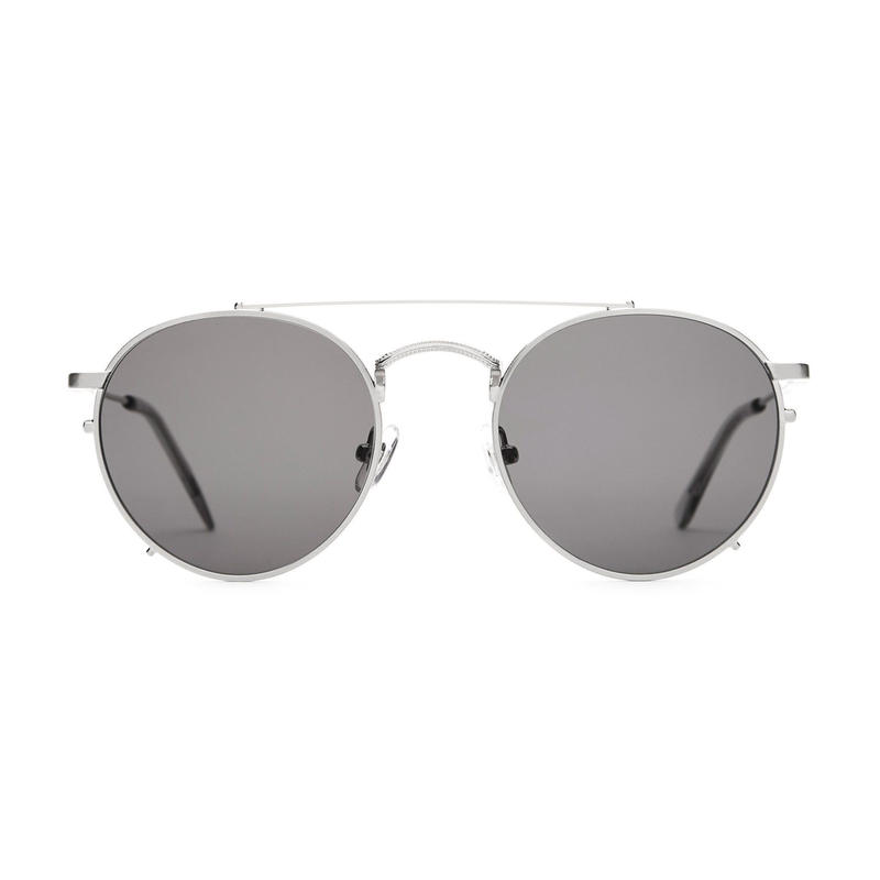 CRAP EYEWEAR THE TUFF SAFARI BRUSHED SILVER/SMOKE GREY