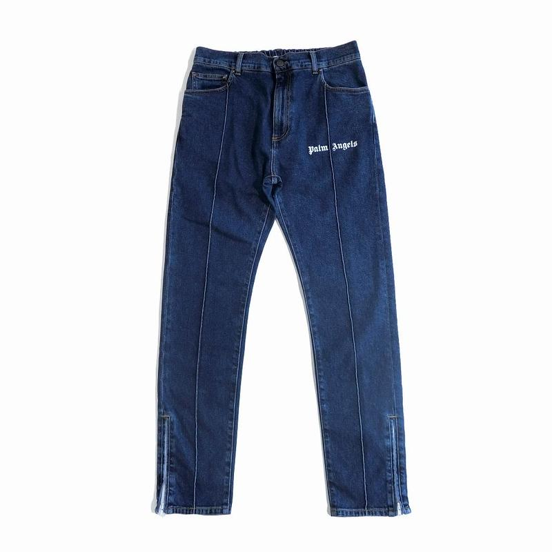 PALM  ANGELS  TRACK DENIM JEANS  MEDIUM WASH