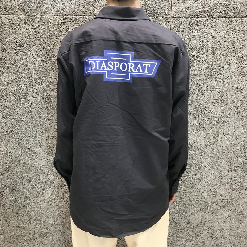 DIASPORA SKATEBOARDS  CHEVY LS WORK SHIRT CHARCOAL