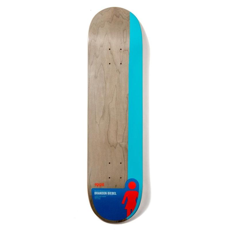 GIRL SKATEBOARDS BIEBEL TAILBLOCK 8.0INCH