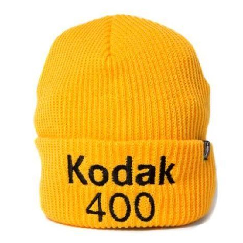 GIRL SKATEBOARDS X KODAK 400 CUFF BEANIE GOLD