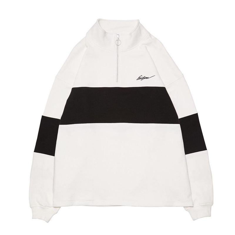 EVISEN SKATEBOARDS VEHICLE ZIP SWEAT WHITE