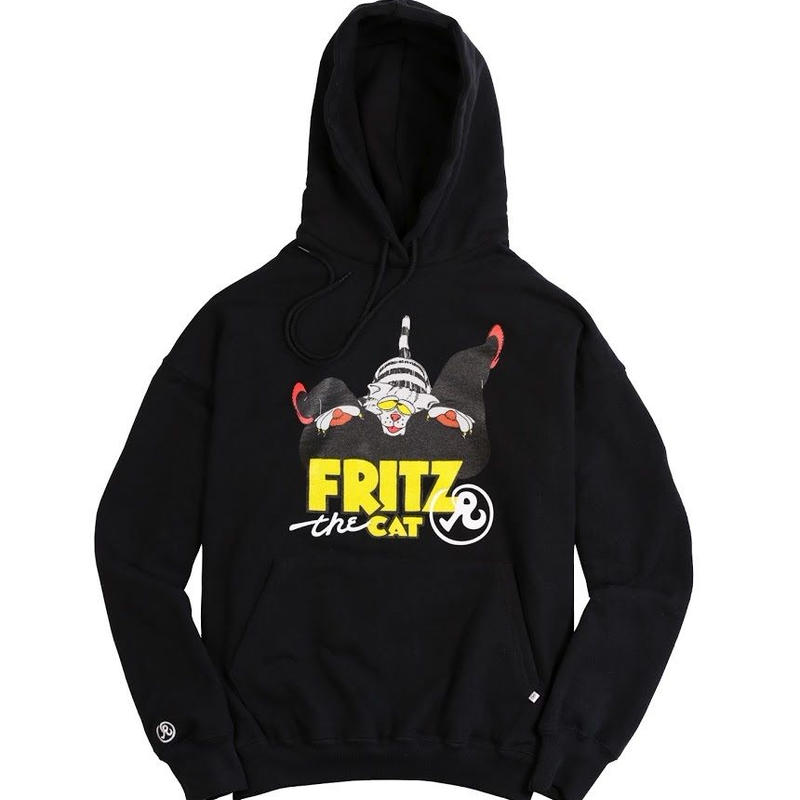 RICHARDSON FRITZ THE CAT LOVE HOODIE BLACK