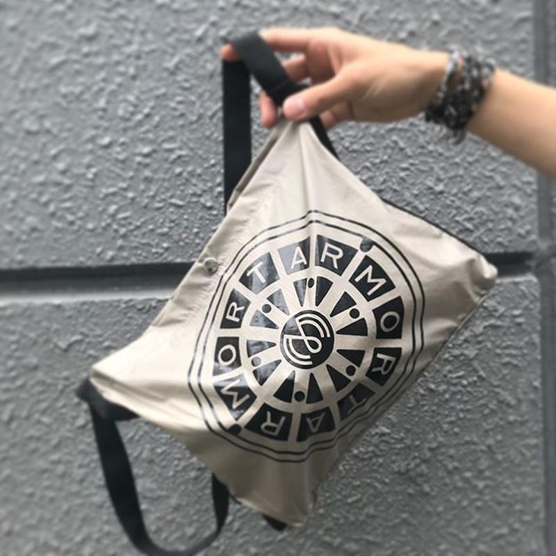 MORTAR ORIGINAL NYLON SHOULDER BAG BEIGE